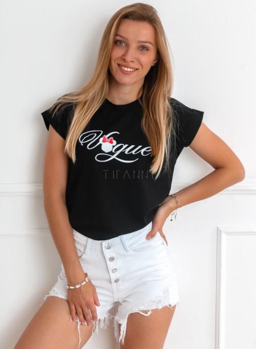 T-shirt Vogue Minnie czarny