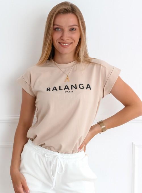T-shirt Balanga beżowy