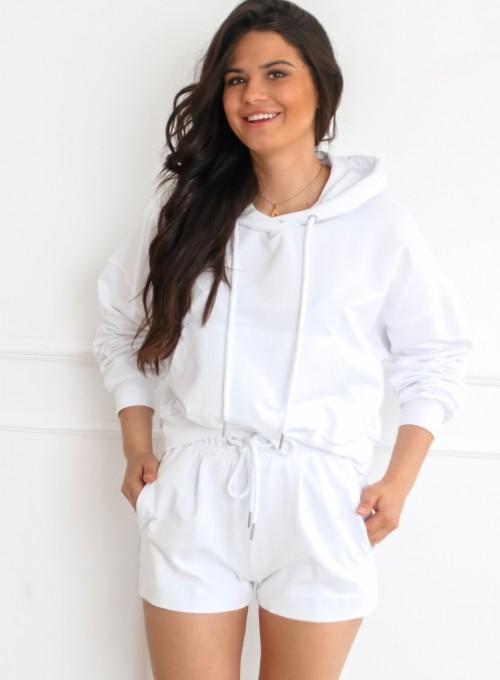 Komplet bluza ze spodenkami Summer biały 2