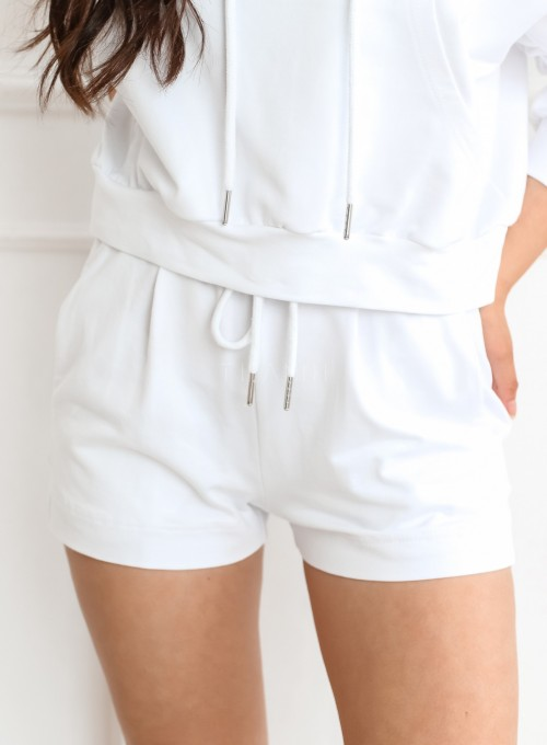 Komplet bluza ze spodenkami Summer biały 5