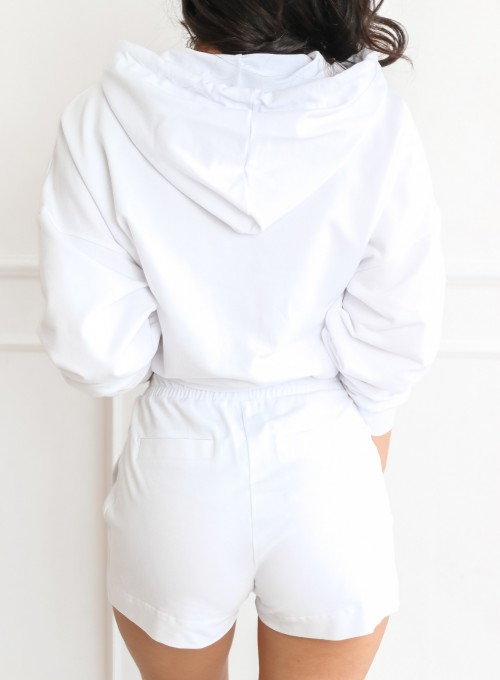 Komplet bluza ze spodenkami Summer biały 6