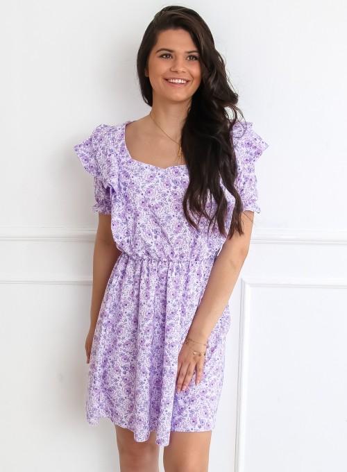 Sukienka Meghan liliowy