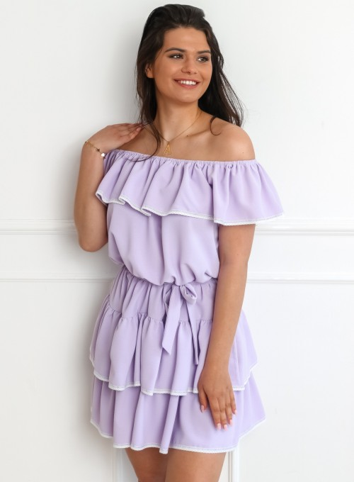 Sukienka hiszpanka Nancy liliowa