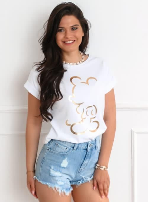 T-shirt Mickey Mause biały