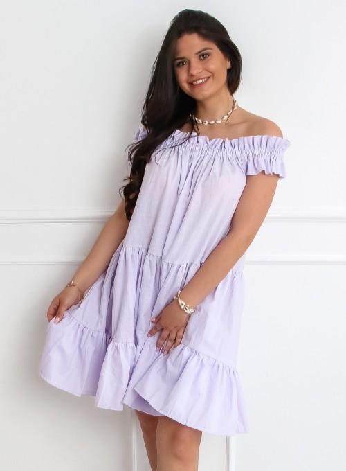 Sukienka hiszpanka Debra w kolorze liliowym