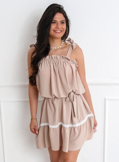 Sukienka oversizowa Flori beżowa