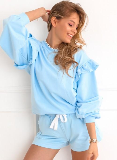 Bluza Lora błękitna