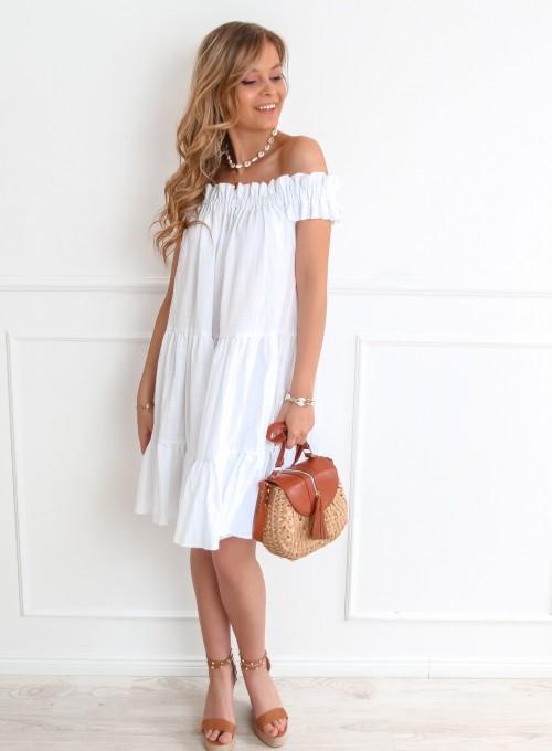 Sukienka hiszpanka Debra w kolorze białym 2