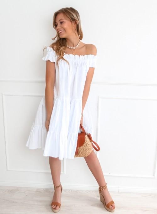 Sukienka hiszpanka Debra w kolorze białym 3