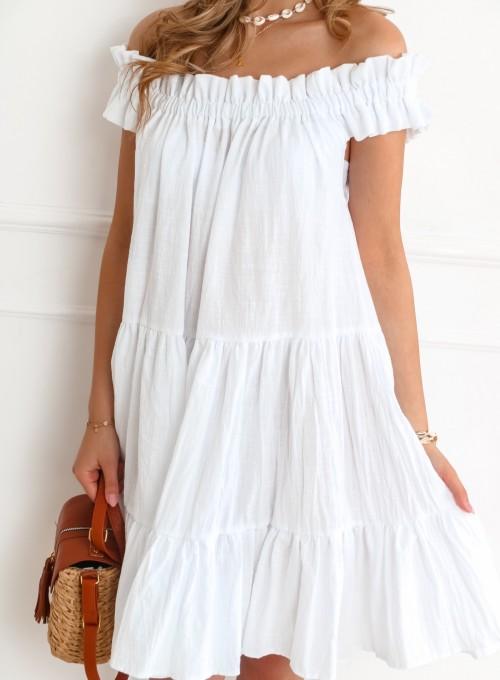 Sukienka hiszpanka Debra w kolorze białym 1