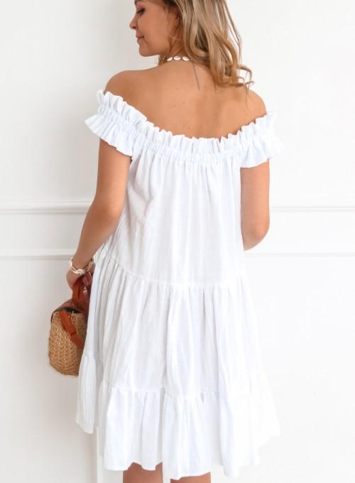 Sukienka hiszpanka Debra w kolorze białym 7