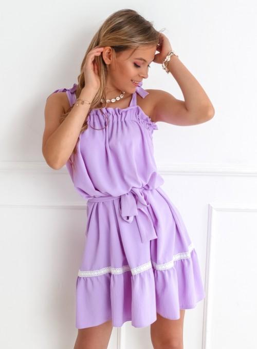 Sukienka oversizowa Flori liliowa