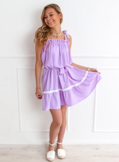 Sukienka oversizowa Flori liliowa 1