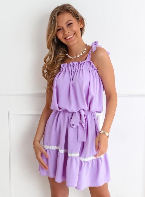 Sukienka oversizowa Flori liliowa 3