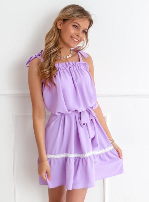 Sukienka oversizowa Flori liliowa 4
