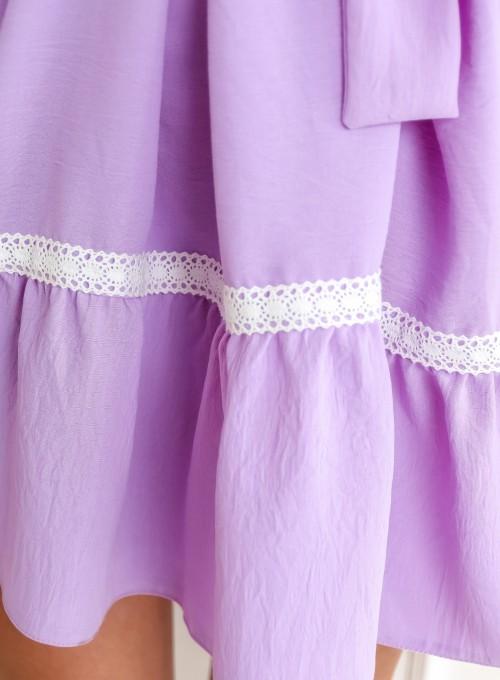 Sukienka oversizowa Flori liliowa 5