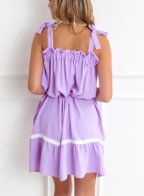 Sukienka oversizowa Flori liliowa 7