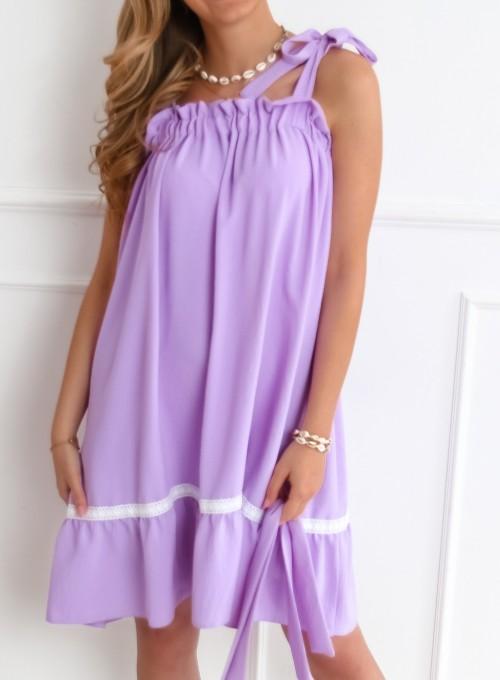 Sukienka oversizowa Flori liliowa 8