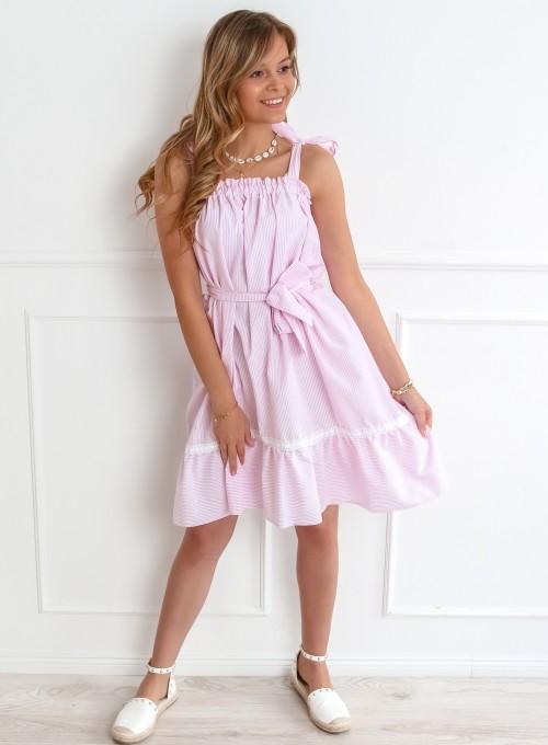 Sukienka oversizowa Flori pudrowa 2