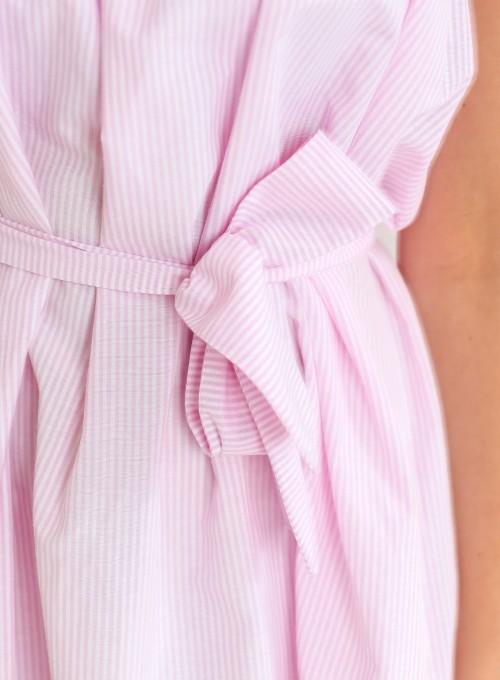 Sukienka oversizowa Flori pudrowa 6