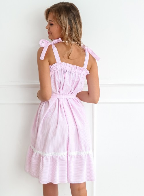 Sukienka oversizowa Flori pudrowa 8