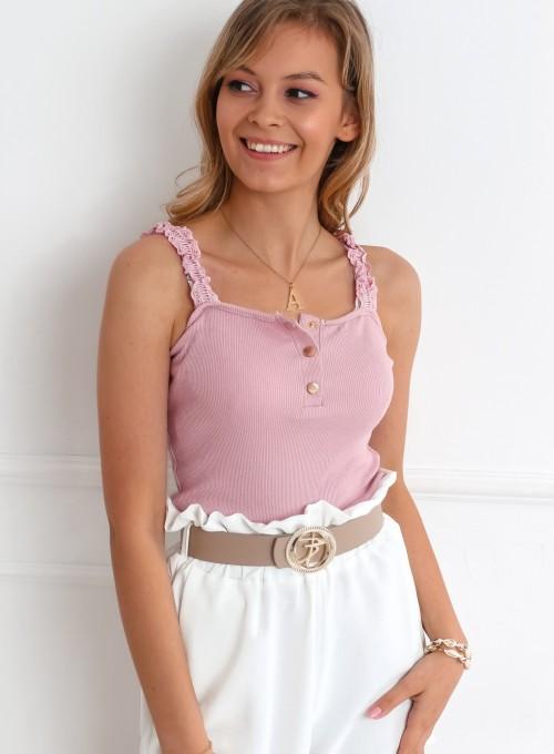 Bluzka Miri pudrowa