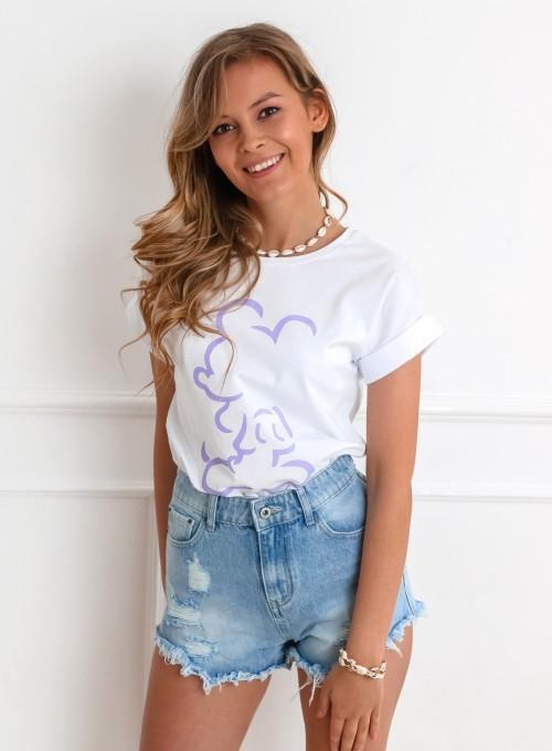 T-shirt Mickey Mause biały II 5