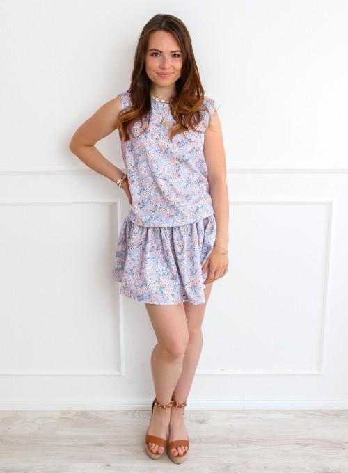 Sukienka Sophi liliowa łączka 1