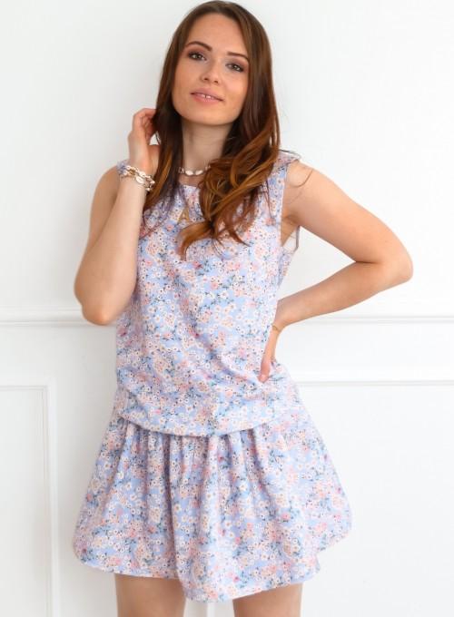 Sukienka Sophi liliowa łączka 2