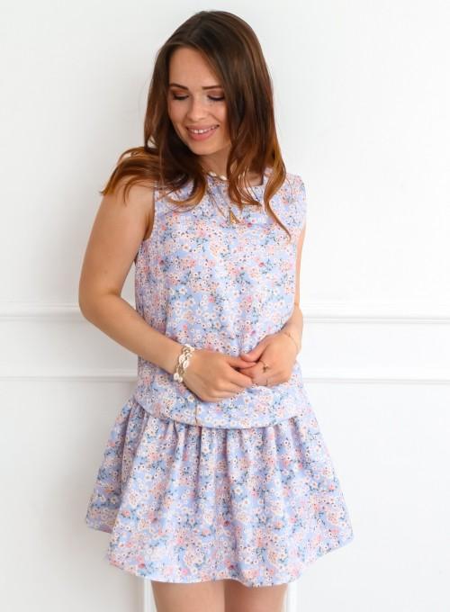 Sukienka Sophi liliowa łączka 3