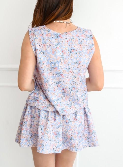 Sukienka Sophi liliowa łączka 6