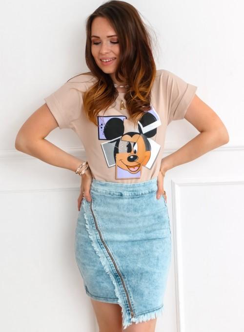 T-shirt Lou beżowy 3