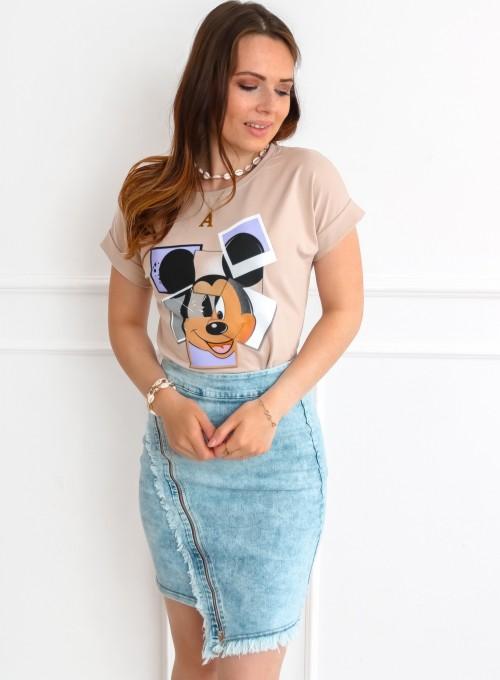 T-shirt Lou beżowy 4