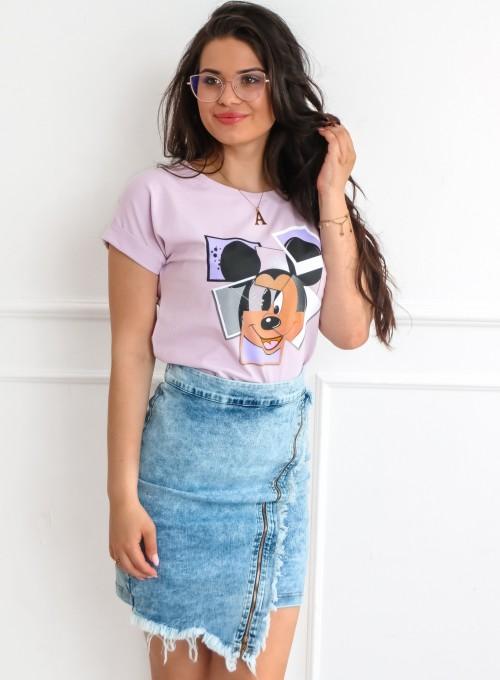 T-shirt Lou liliowy