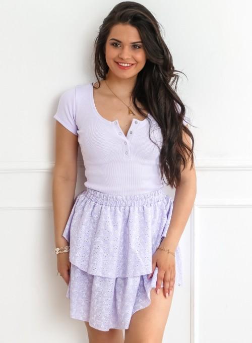 Spódnica Miranda liliowa 3