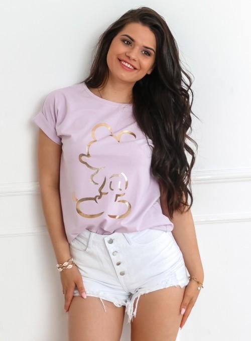 T-shirt Mickey Mause liliowy 3