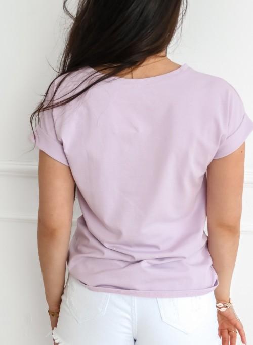 T-shirt Mickey Mause liliowy 4