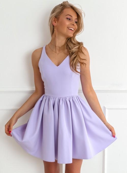 Sukienka Mangi liliowa
