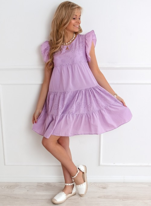 Sukienka Bontone liliowa