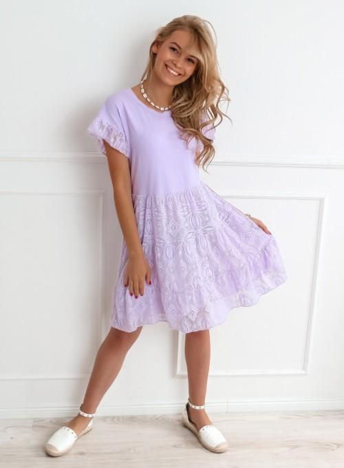 Sukienka Lalu liliowa