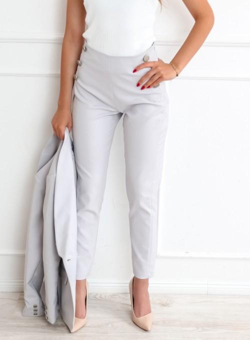 Szare spodnie cygaretki - LEMI