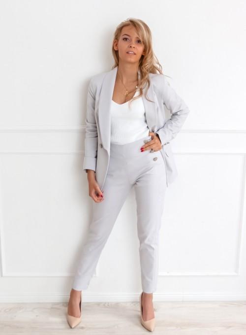 Szare spodnie cygaretki - LEMI 1