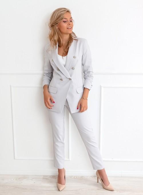 Szare spodnie cygaretki - LEMI 4