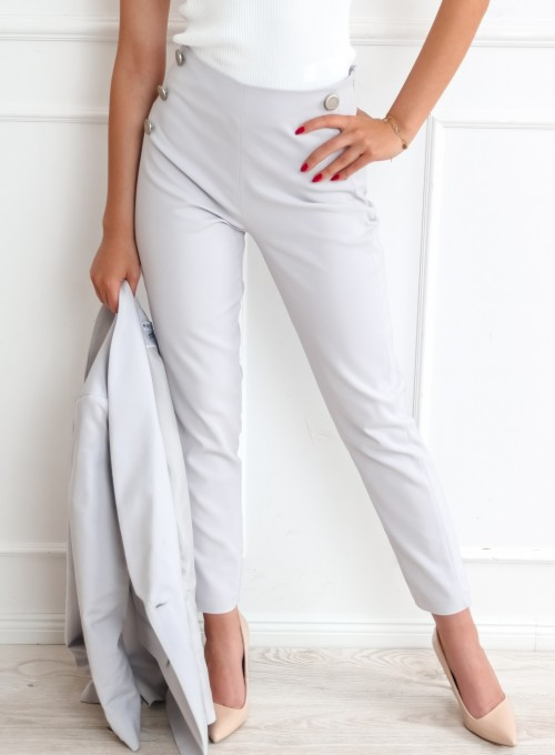 Szare spodnie cygaretki - LEMI 2
