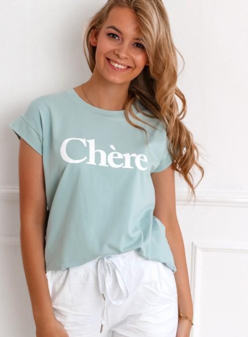 T-shirt Chere miętowy
