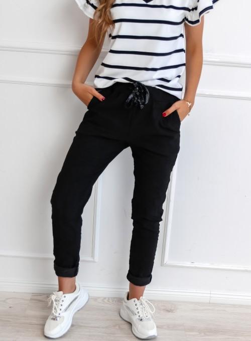 Spodnie Pistone czarne