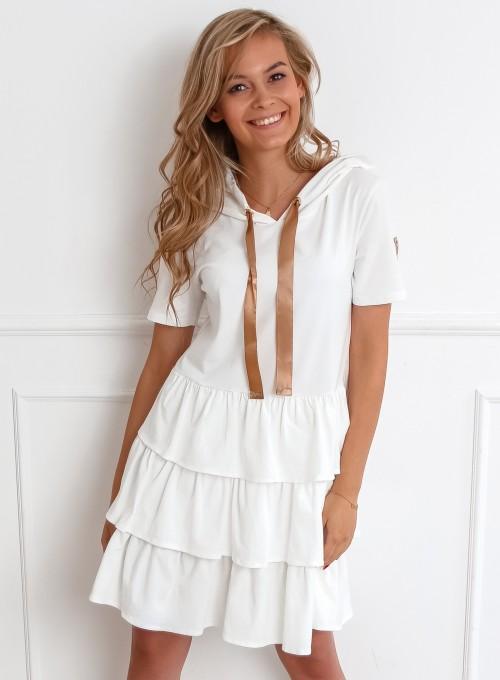 Sukienka Massimo śmietankowa
