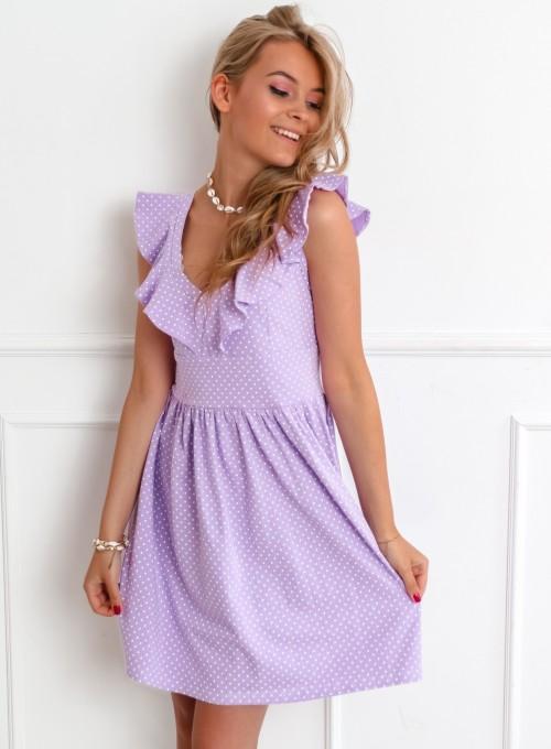 Sukienka Syntia liliowa