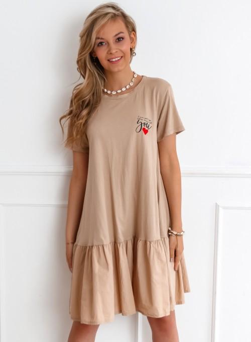 Sukienka YOU beżowa