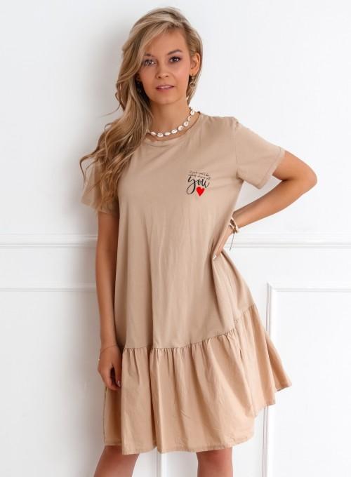 Sukienka YOU beżowa 1